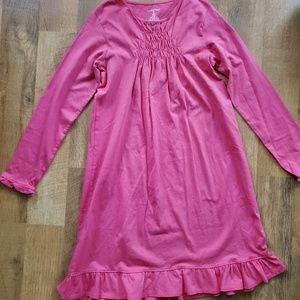 Lands End pink dress